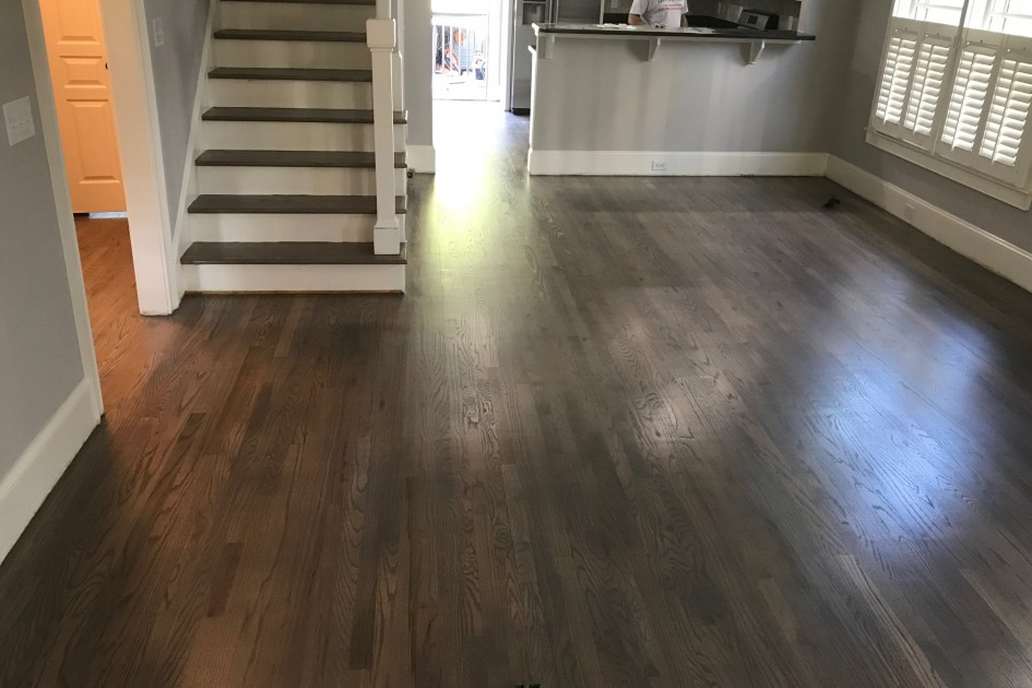 Stairs and Floor Refinished
